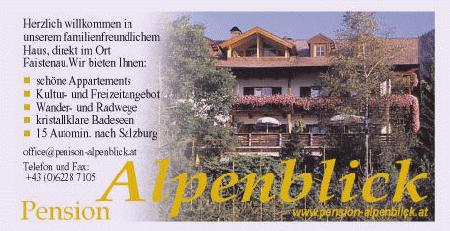 Appartement Ferienwohnung Pension Alpenblick