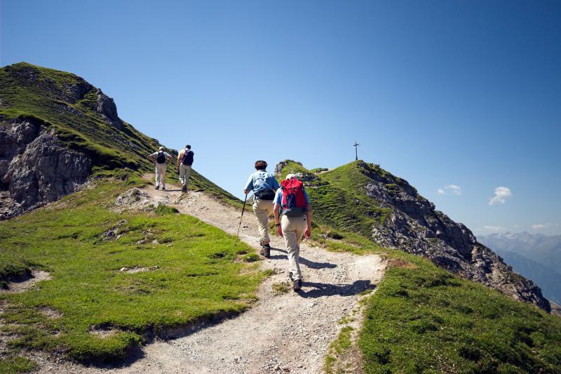wandern zum berg