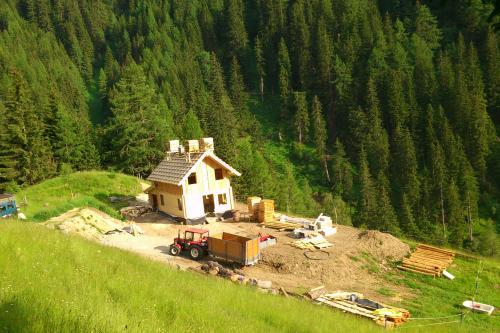 Bau unserer Hütte