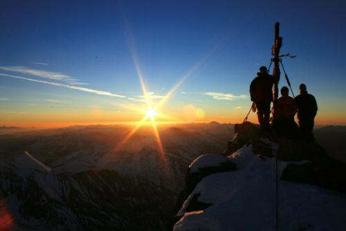 Am Gipfel des Grossglockners